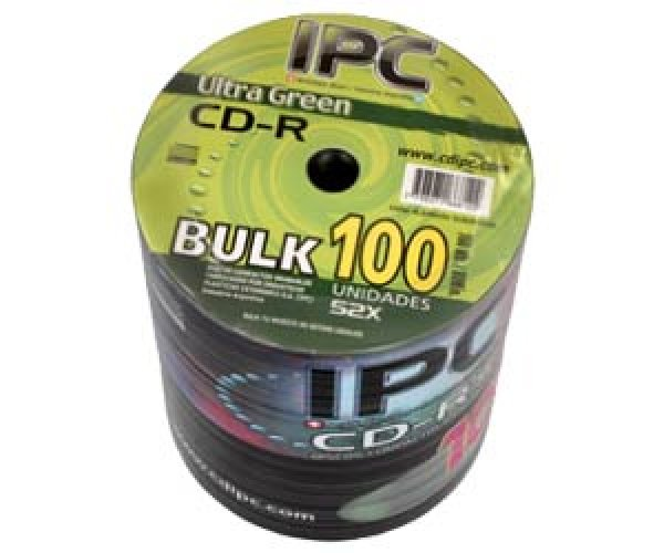 CD IPC 80 MIN ULTRA GREEN BULK X 100