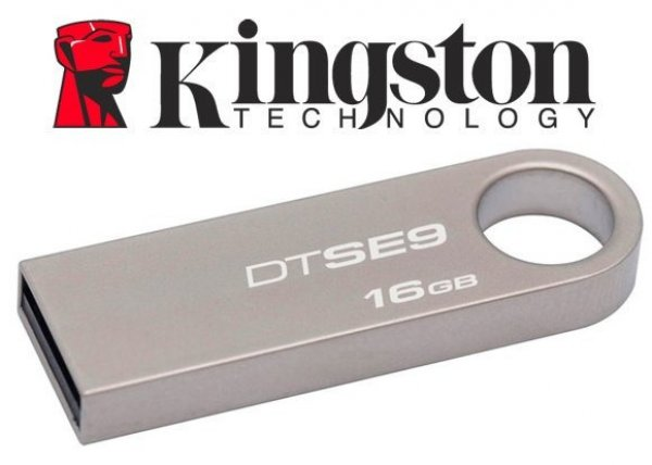 PEN DRIVE KINGSTON 16 GB MINI DTSE9 METALICO
