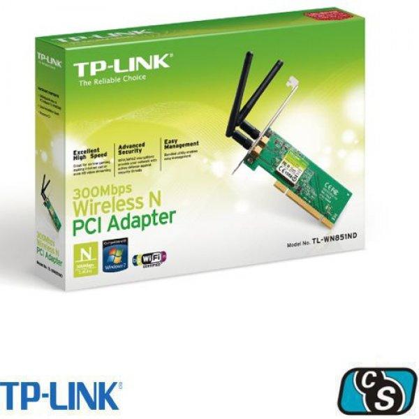 PLACA DE RED TP LINK PCI-EXP WIR TL-WN881ND 300 MBPS 2 ANTENAS